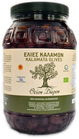 """Βρώσιμη Ελιά Ποικιλίας Καλαμών """"Βιολογικής Καλλιέργειας"""" (καθαρό βάρος, 2 κιλά)"""