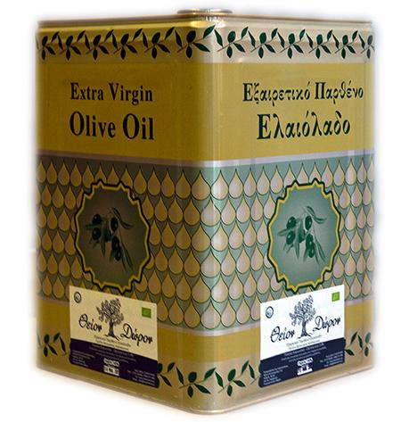 """Εξαιρετικό Παρθένο Ελαιόλαδο """"Βιολογικής Καλλιέργειας"""" (16 κιλά)"""