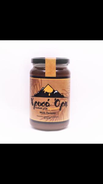 """Μέλι πεύκου """"Χρυσά Όρη"""" 470gr"""