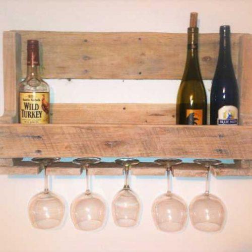 Ράφι για κρασιά και ποτήρια
